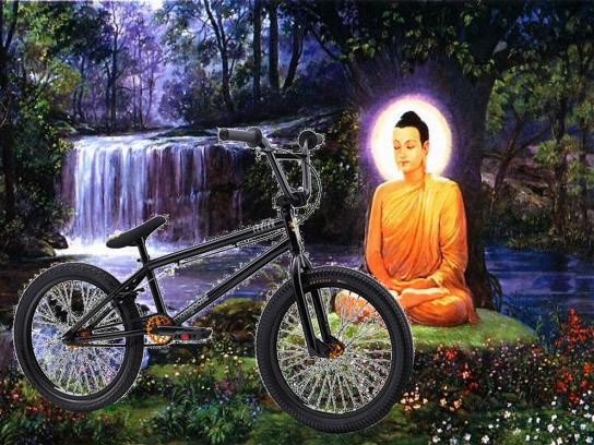 Buddha and bike